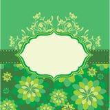 Grüner Blumenhintergrund Stockfotografie