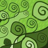 Grüner Blumenhintergrund stock abbildung