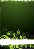 Grüner Blumenhintergrund Lizenzfreies Stockfoto