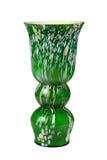 Grüner Blumenvase lokalisiert auf Weiß lizenzfreies stockbild