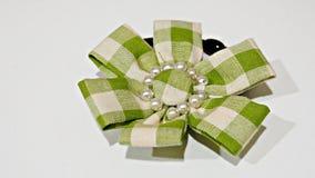 Grüner Bogen auf dem weißen Schirm Stockfotos