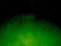 Grüner bokeh Zusammenfassungshintergrund und -beschaffenheit Stockbild