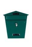 Grüner Briefkasten Stockbild