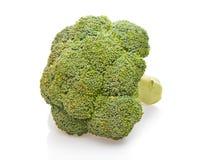 Grüner Brokkoli getrennt auf Weiß Lizenzfreies Stockfoto