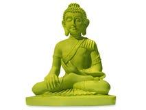Grüner Buddha Stockfotografie