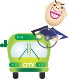 Grüner Bus Lizenzfreie Stockbilder