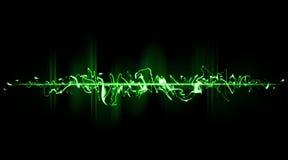 Grüner chaotischer Strahl lizenzfreie abbildung