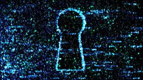 Grüner Code des Computers Hacker protect vektor abbildung