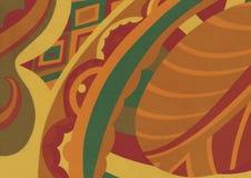 Grüner des Zusammenfassungslaubs orange, gelber und beige Hintergrund lizenzfreie stockfotografie