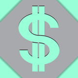 Grüner Dollar-Schatten Lizenzfreie Stockfotografie