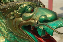 Grüner Drache. Stockbild