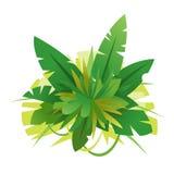 Grüner Dschungel verlässt Zusammensetzungs-Illustration stock abbildung
