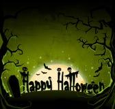Grüner dunkler Hintergrund Halloweens Stockbild