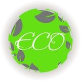 Grüner eco Hintergrund - abstrakte Papierblätter Stockbild