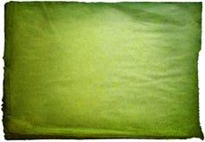 Grüner Effekt gealtertes Papier Stockfotos