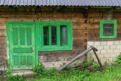Grüner Eingang Stockbilder