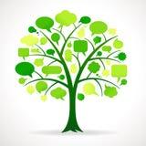 Grüner Einzel-Rede-Blasen-Baum lizenzfreie abbildung
