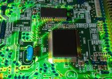 Grüner elektronischer Vorstand Stockbild