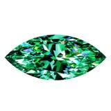 Grüner Emerald Marquise Lizenzfreie Stockfotos
