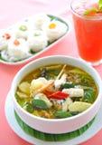 Grüner essbare Meerestiere Curry Stockbild