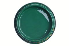 Grüner Farbendosendeckel lokalisiert auf Weiß stockbilder