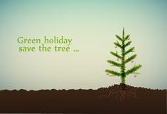 Grüner Feiertag stock abbildung