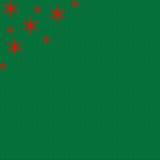 Grüner Feiertags-Hintergrund mit roten Sternen Lizenzfreie Stockbilder