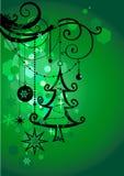 Grüner Feiertagshintergrund Stockbild