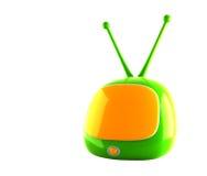 Grüner Fernsehapparat Stockbilder