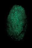 Grüner Fingerabdruck Lizenzfreies Stockbild