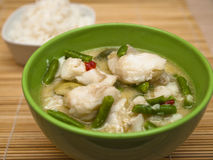 Grüner Fisch-Curry Lizenzfreie Stockfotografie