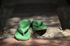 Grüner Flipflop Stockbild