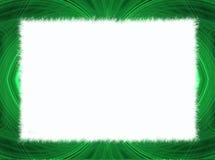 Grüner Fractal-Rand mit weißem Exemplar-Platz stock abbildung