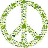Grüner Frieden Stockfotografie