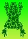 Grüner Frosch-Amphibie stock abbildung