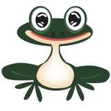 Grüner Frosch auf Weiß Lizenzfreie Stockbilder