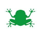 Grüner Frosch in der flachen Art Lizenzfreies Stockbild