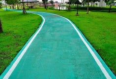 Grüner Fußweg Lizenzfreies Stockbild