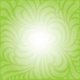 Grüner geformter mit Blumenhintergrund Stockfotografie