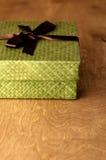 Grüner Geschenk-Kasten lizenzfreie stockfotografie