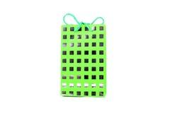 Grüner Geschenkbeutel Stockbilder