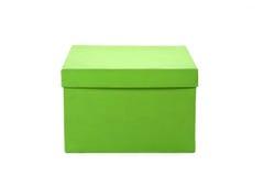 Grüner Geschenkkasten Stockfotos