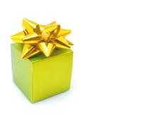 Grüner Geschenkkasten Lizenzfreie Stockfotos