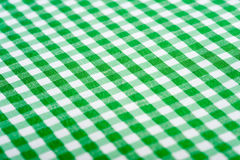 Grüner Gingham-Hintergrund Stockbilder