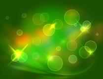 Grüner glänzender Hintergrund Lizenzfreie Stockfotografie