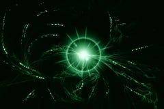 Grüner Glühenstern lizenzfreie abbildung