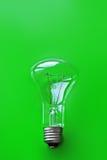 Grüner Glühlampen-Hintergrund Stockfoto