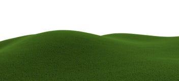Grüner grasartiger Hügel Lizenzfreie Stockfotos