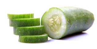 Grüner Gurkesalat Stockfotos