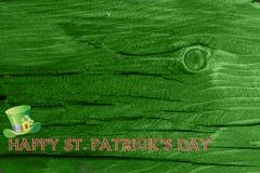 Grüner hölzerner Beschaffenheitshintergrund Heiliges Patrickâs Tag Hintergrund Str g Lizenzfreie Stockbilder
